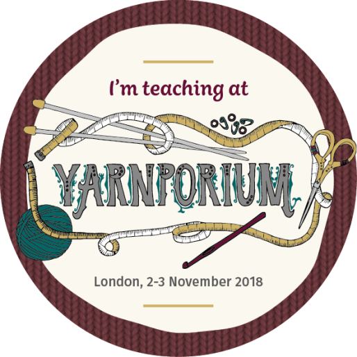 Yarnporium 2018 badges AW teaching